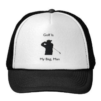 Golf is my bag man hats