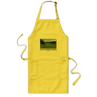 Golf Is My Modus Operandi (Golfer On Golf Course) Long Apron