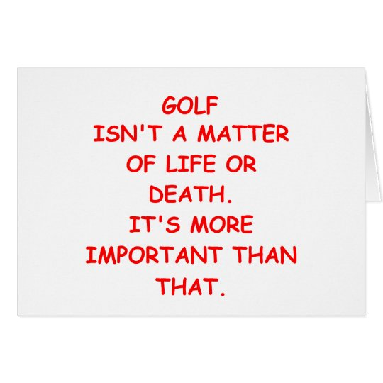 golf joke card