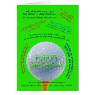 Golf Jokes birthday card