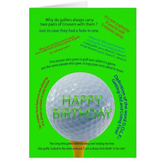 Golf Jokes birthday card