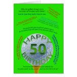 Golf Jokes birthday card for 50 year old