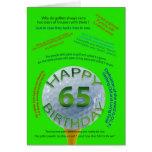 Golf Jokes birthday card for 65 year old