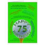 Golf Jokes birthday card for 75 year old