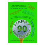 Golf Jokes birthday card for 90 year old