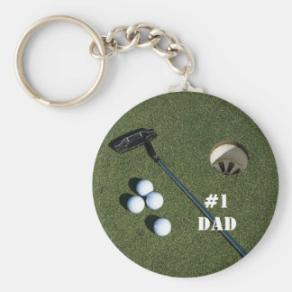 Golf Keychain-Change to any name you wish Basic Round Button Key Ring