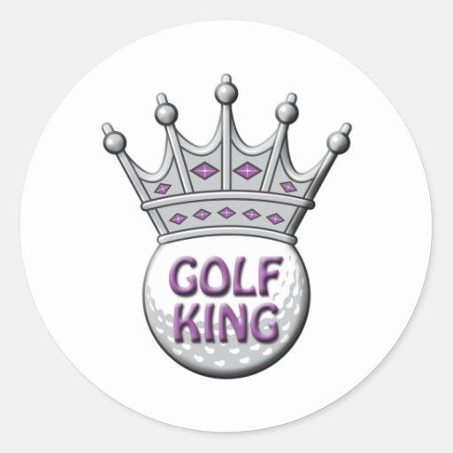 Golf King Father's Day Dadism Gift Round Sticker