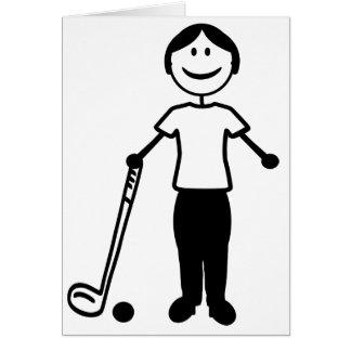 Golf Lady Greeting Card
