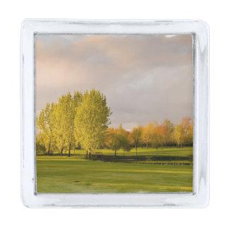 Golf Silver Finish Lapel Pin