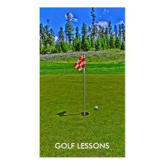 Golf Lessons bright scene custom business cards