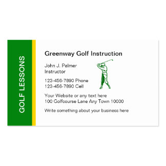 Golf Lessons Business Card
