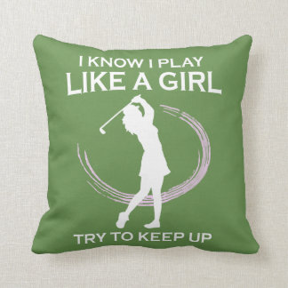 Golf like a girl cushion