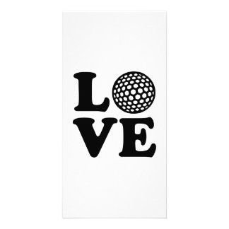 Golf Love Customized Photo Card