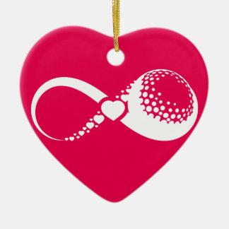 Golf Love Infinity Heart Ornament