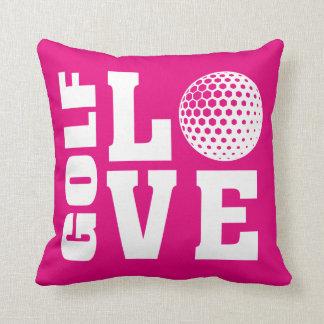 Golf Love Pink Cushion
