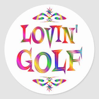 Golf Lover Round Sticker