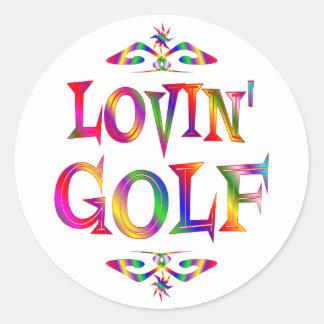 Golf Lover Round Sticker