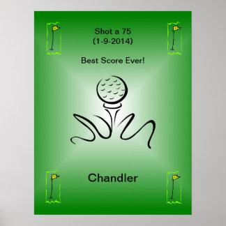 Golf Momentos Poster