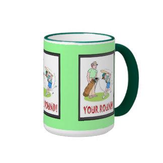 Golf mug, Hitting with a baseball bat Ringer Mug