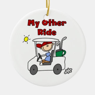Golf My Other Ride Christmas Ornament