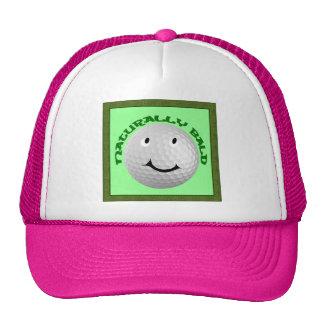 Golf - 'Naturally Bald' golf ball Trucker Hats