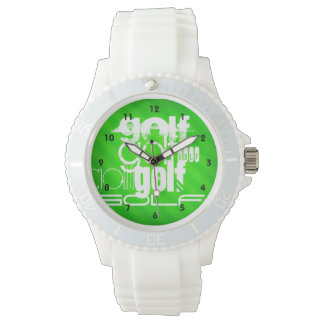 Golf; Neon Green Stripes. Watch