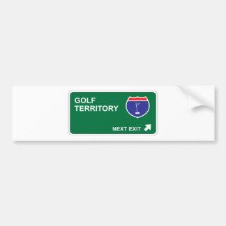 Golf Next Exit Bumper Sticker