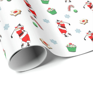 golf novelty gift wrapping paper