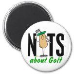 Golf Nut 2 6 Cm Round Magnet