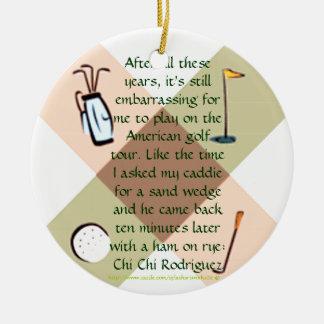 """Golf Nut Ornament"" Christmas Ornament"