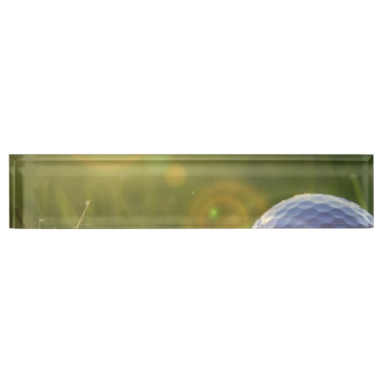 Golf on a Sunny Day Desk Nameplate