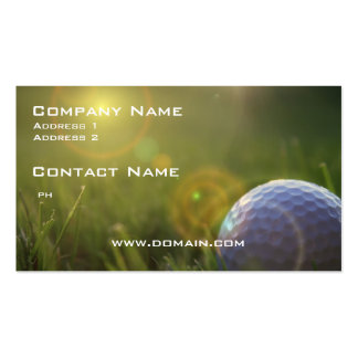 Golf on a Sunny Day Pack Of Standard Business Cards
