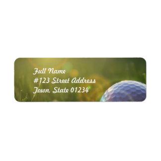Golf on a Sunny Day Return Address Label