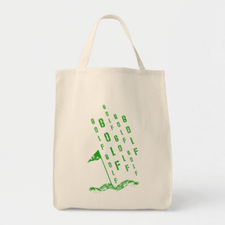 Golf, On the Green Grocery Tote Bag