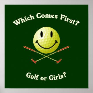 Golf or Girls Print