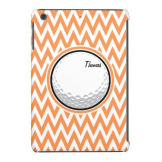 Golf Orange and White Chevron iPad Mini Retina Case