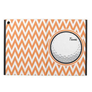 Golf Orange and White Chevron Case For iPad Air