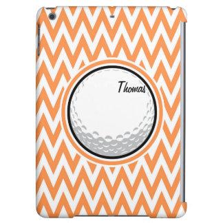 Golf Orange and White Chevron iPad Air Cases