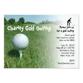 """Golf Outing Charity Party Invitation 5"""" X 7"""" Invitation Card"""