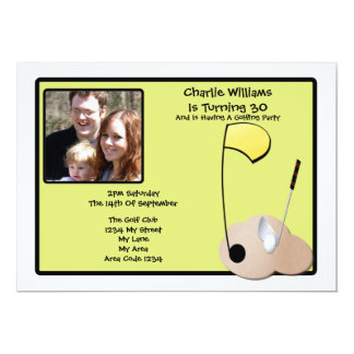 Golf Party 5x7 Paper Invitation Card