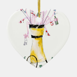 golf party bag, tony fernandes ceramic heart decoration