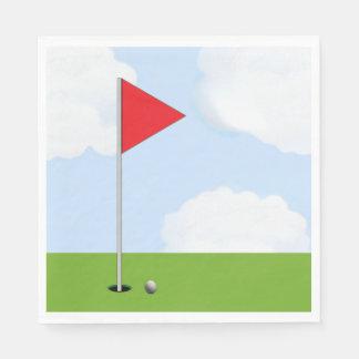 Golf Party Disposable Serviette