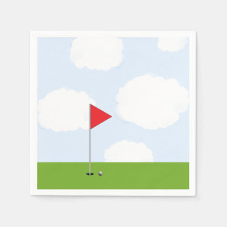 golf party disposable serviette
