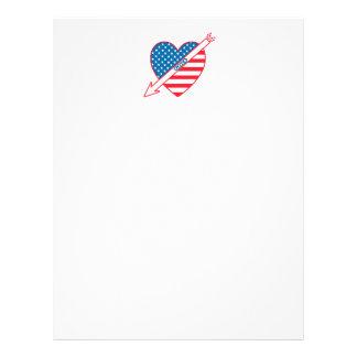 Golf Patriot Heart Flag 21.5 Cm X 28 Cm Flyer