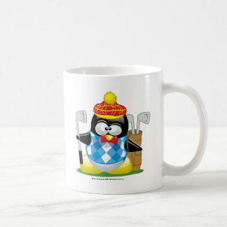 Golf Penguin Basic White Mug