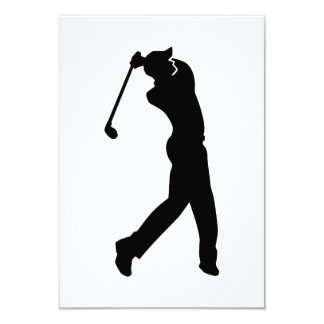 Golf Player 9 Cm X 13 Cm Invitation Card