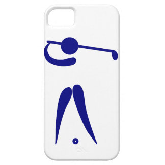 Golf Player Blue White Sports, add text and color Case For The iPhone 5