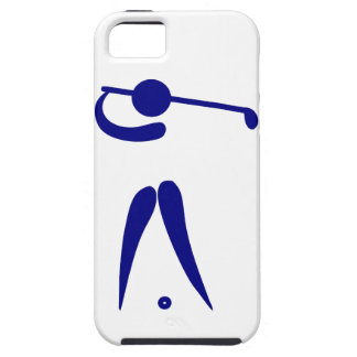 Golf Player Blue White Sports, add text and color iPhone 5 Case
