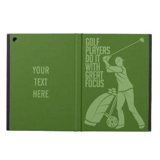 GOLF PLAYER custom monogram cases iPad Air Covers