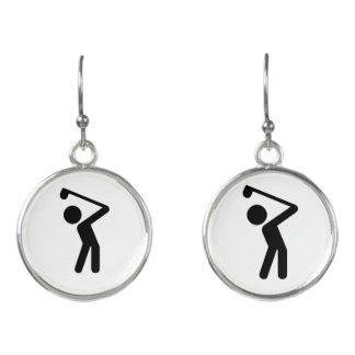 Golf Player Earrings